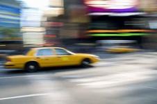 Wandbilder New York Wandbilder  Taxi auf dem Times Square New York