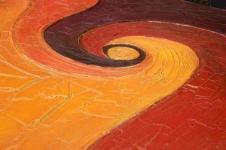 Kunstdrucke Leinwand Wandbilder  Ölmalerei Die Spirale Abstrakte Kunst