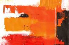 Kunstdrucke Leinwand Wandbilder  Abstrakte Malerei Lava und Stein Abstrakte Kunst