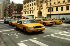 Wandbilder New York Wandbilder  Taxi zur Rushhour in New York