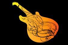 Wandbilder Retro und Lounge Wandbilder  Music Art Abstract Guitar