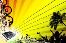 Leinwandbilder Retro und Lounge Wandbilder  Party at the Beach Urban Art and Fun