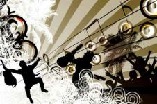 Wandbilder Retro und Lounge Wandbilder  Party at the Speaker Lounge