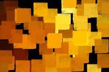 Kunstdrucke Leinwand Wandbilder  Aquarell Malerei Kubistisch