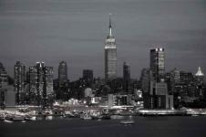 Wandbilder New York Wandbilder  Nachtansicht der New York Skyline