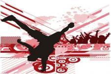 Wandbilder Retro und Lounge Wandbilder  Breakdance