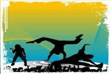 Leinwandbilder Retro und Lounge Wandbilder  Background Dancers