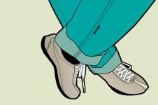 Wandbilder Retro und Lounge Wandbilder  Shoes and Trousers