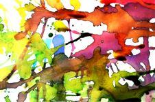 Kunstdrucke Leinwand Wandbilder  Abstrakte Aquarell Kunst