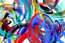 Kunstdrucke Leinwand Wandbilder  Kunstdruck Malerei bunte Wirbel Leinwand
