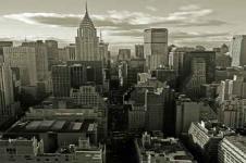 Wandbilder New York Wandbilder  Blick über die Dächer von Manhattan New York City